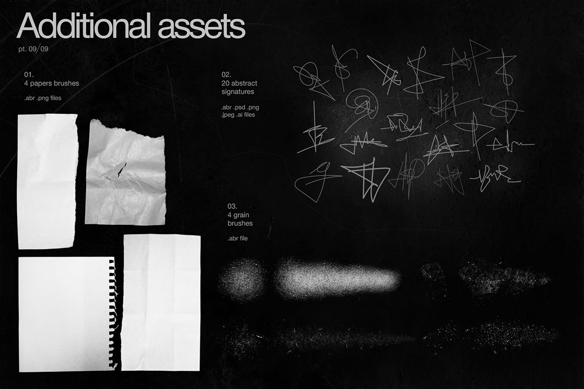 Graphics Pack - Textures, Shapes, Grids, Brushes