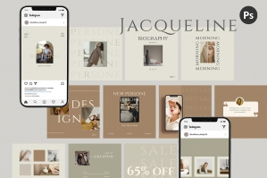 Jacqueline Instagram Templates - Post and Stories