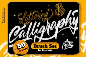 Lettering & Calligraphy Brush Set for Procreate