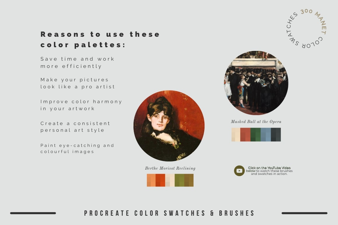 Manet's Art Procreate Brushes & Color Swatches