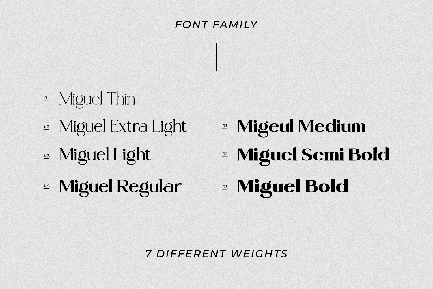 Miguel - Serif Font Family