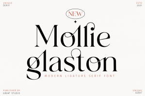 Mollie Glaston - Modern Ligature Serif