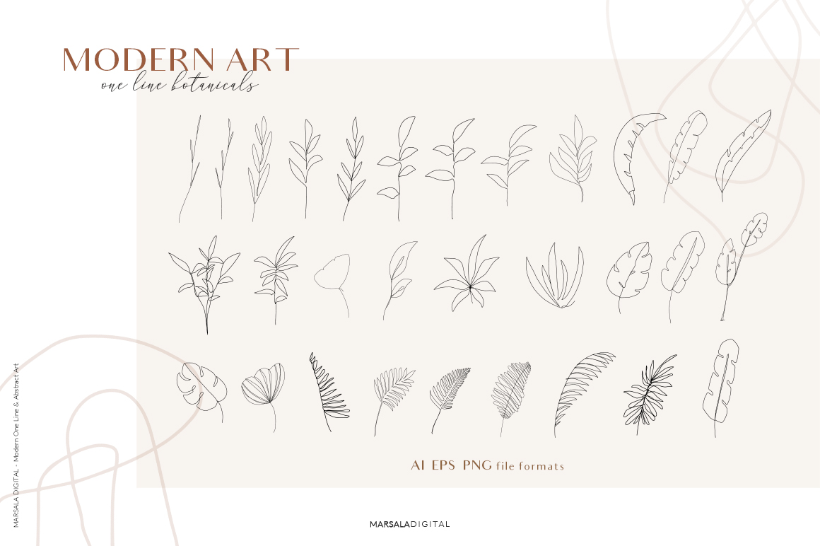 One Line Drawings and Abstract Art Vol. 1