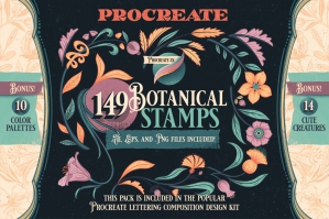 Procreate Botanical Stamp Pack