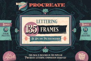 Procreate Frame Stamp Pack