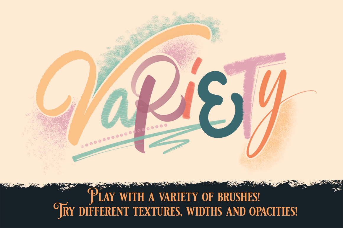 Procreate Lettering & Texture Brush Pack
