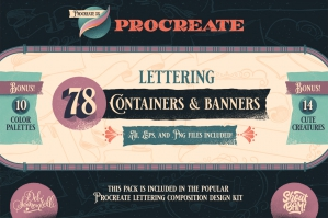 Procreate Stamp Banners & Containers