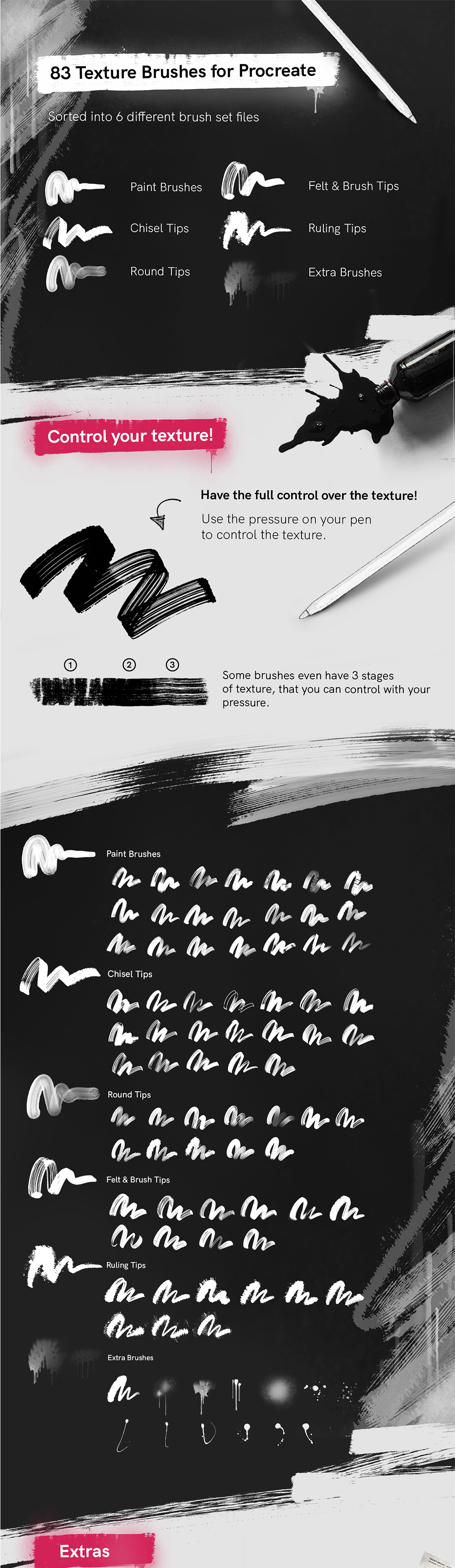 RoughPack 2 – Texture Brushes for Procreate
