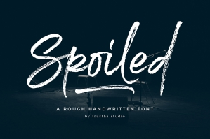 Spoiled Brush Font