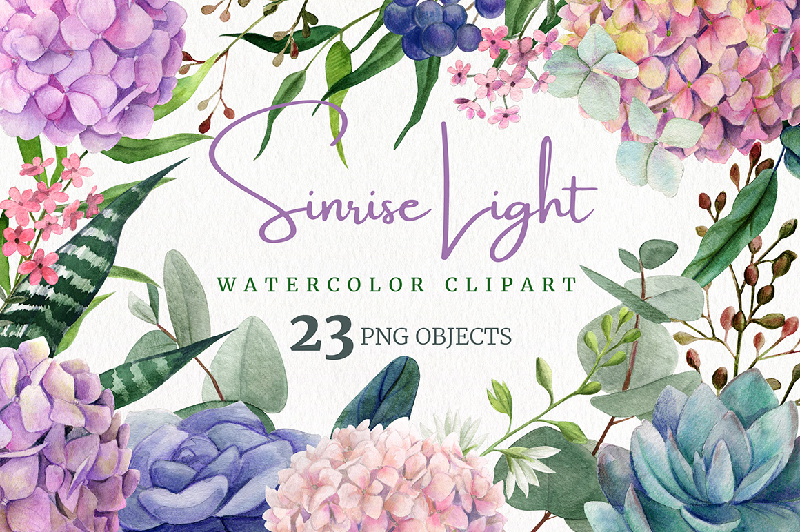 Sunrise Light, Floral Watercolor Collection
