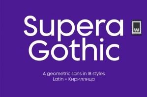 Supera Gothic Type Family