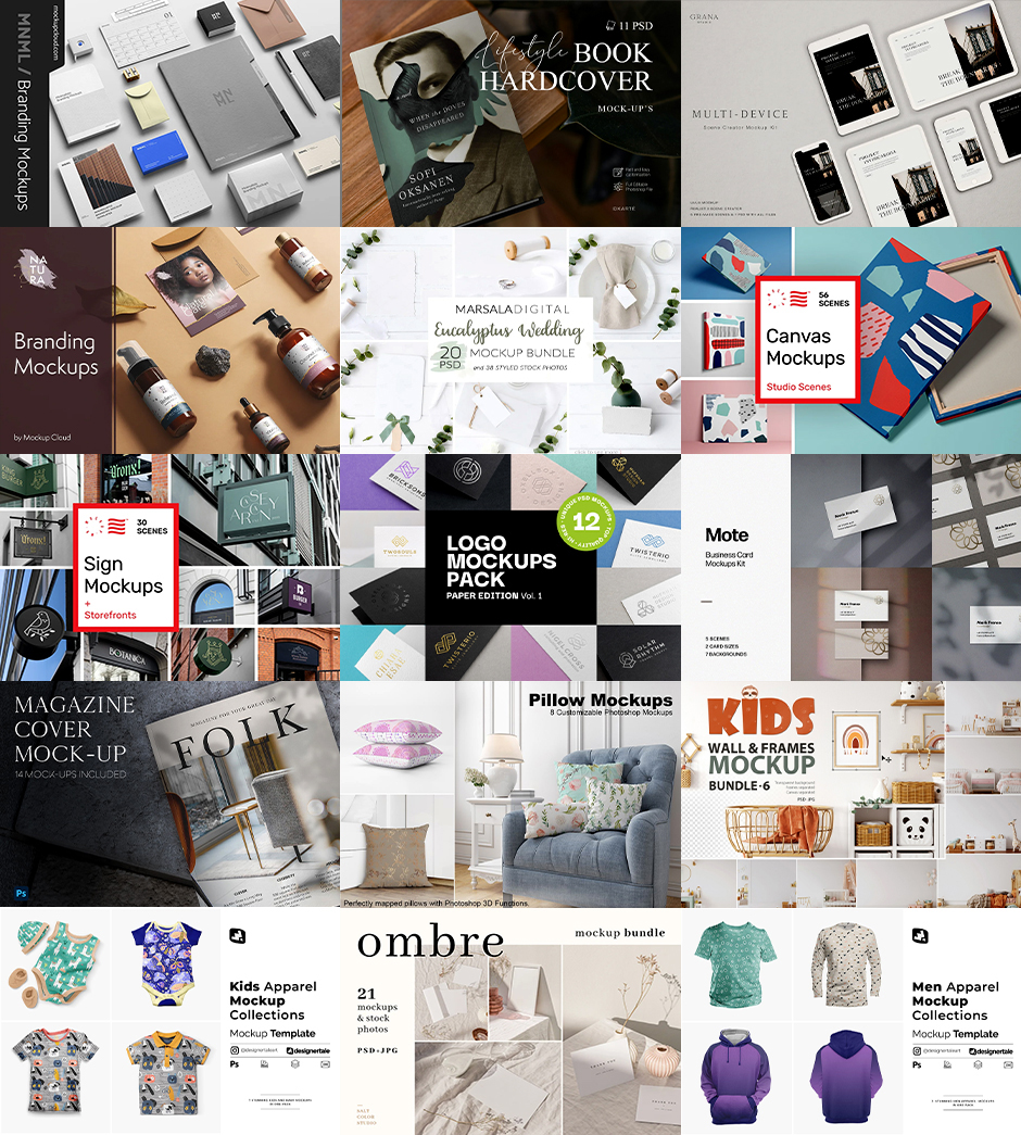 IThe 400+ Magnificent Mockups Collection