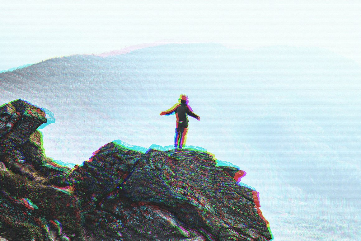 VHS Glitch Effect for Photoshop