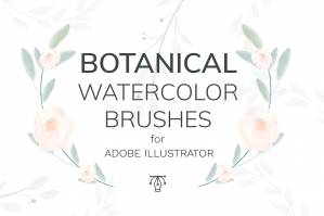 Vector Botanical Watercolor Brushes