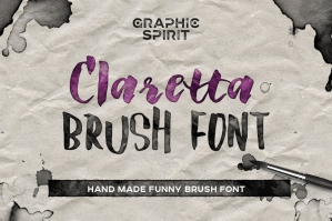 Claretta Brush Ink Font