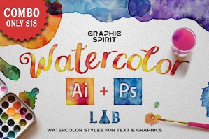 Combo: Watercolor Lab .AI + .PS