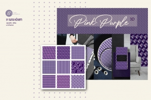 Pink Purple 3D Vector Textures