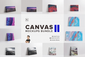 Canvas Mockups Bundle 2