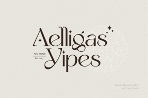Yipes Display Typeface