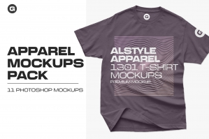 Alstyle Apparel 1301 T-Shirt Mockups