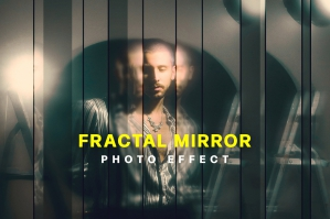 Strip Fractal Mirror Photo Effect