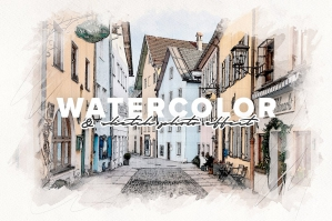 Watercolor and Sketch Photo Effect