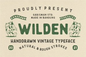 Wilden - Hand-Drawn Vintage Typeface