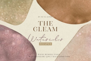 The Gleam Watercolor Shapes 2
