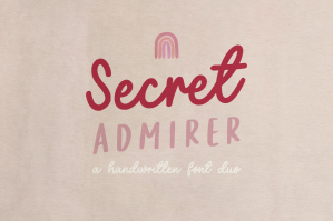 Secret Admirer Handwritten Font Duo