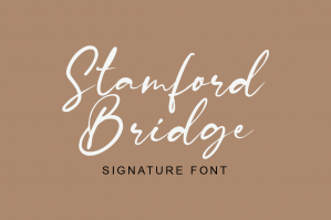 Stamford Bridge Signature Font