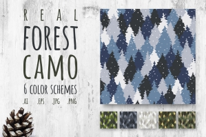 Forest Camo, Seamless Pattern