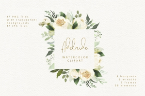 Adelaide Watercolor Clipart