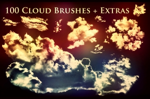 100 Cloud Brushes
