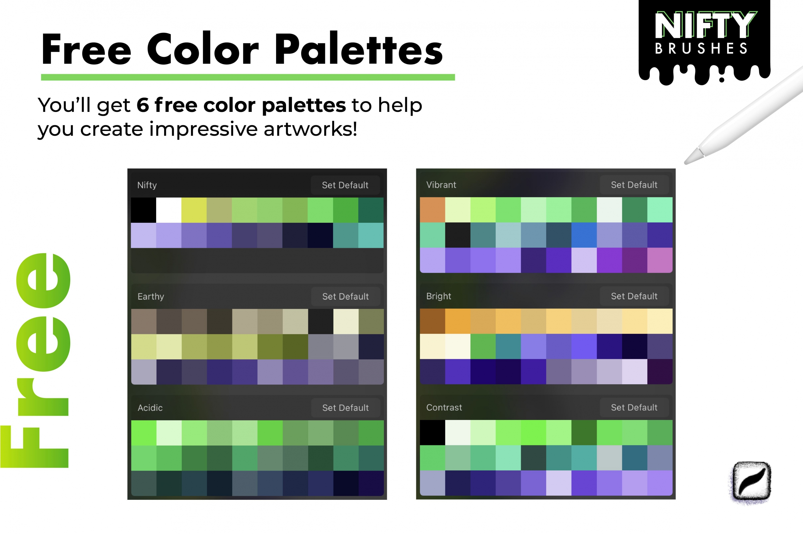23 Nifty Brushes for Procreate