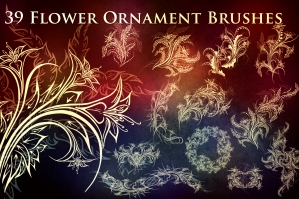 39 Flower Ornament Brushes