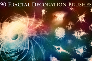 90 Fractal Decoration Brushes