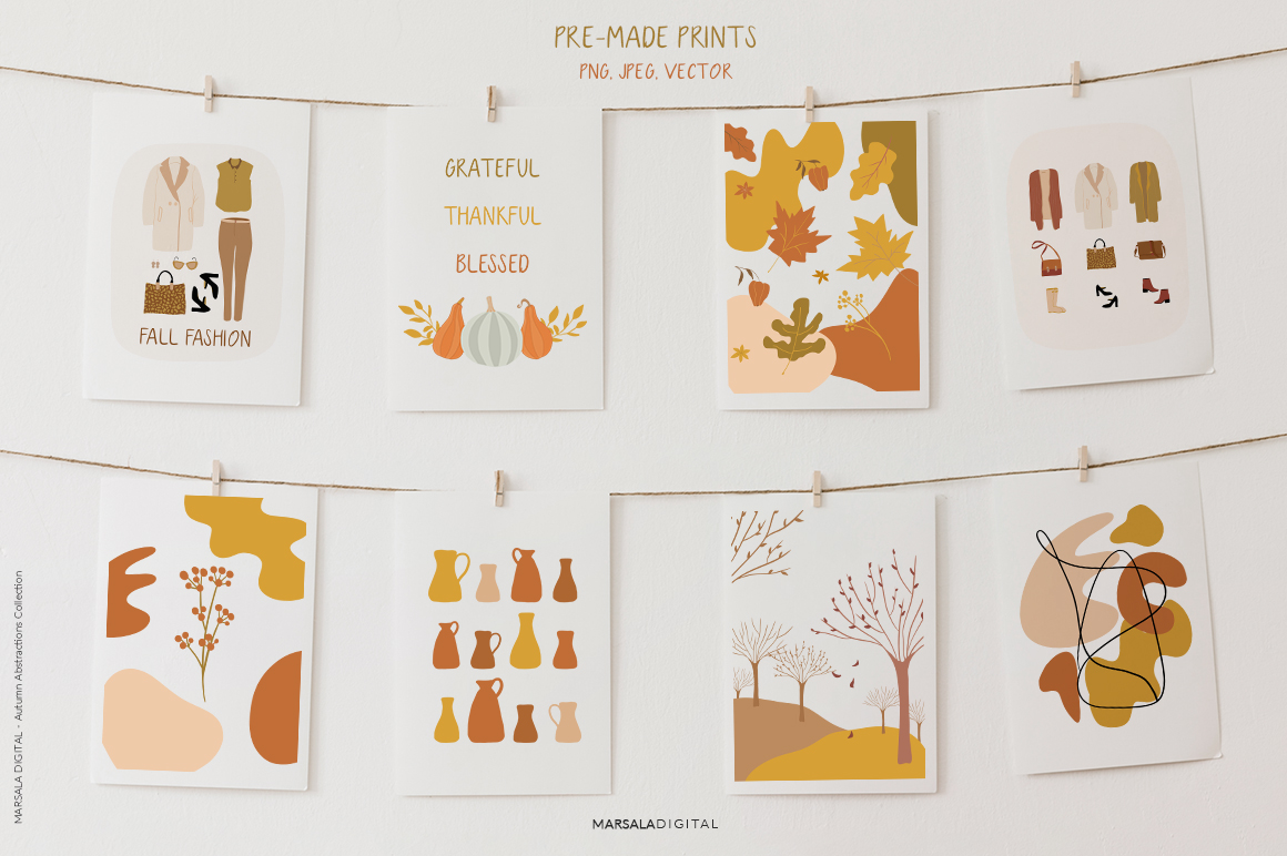 Abstract Autumn Collection