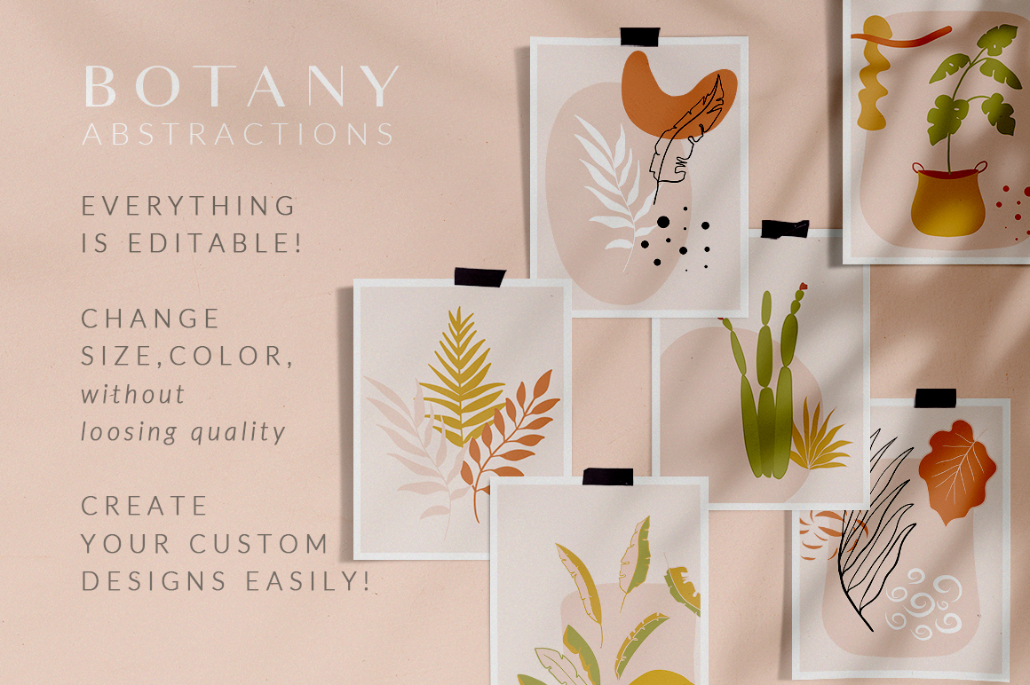 Abstract Botany Collection