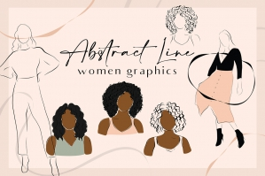 Abstract Line Women Illustrations Collection