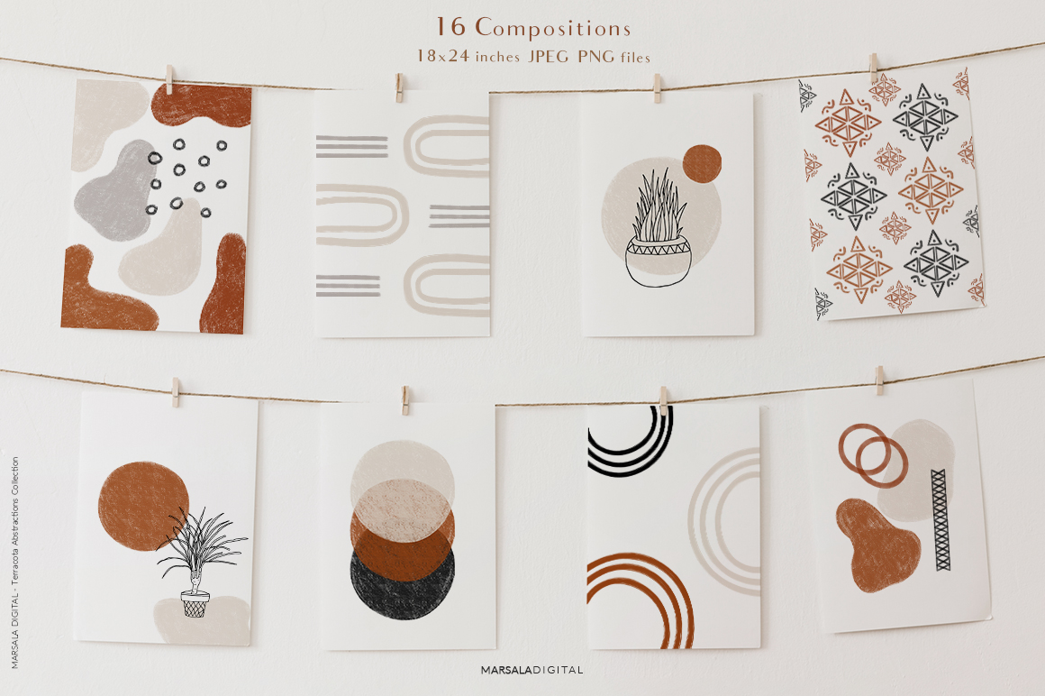 Abstract Terracotta Collection