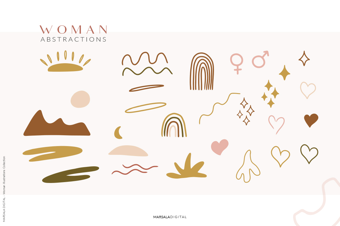 Abstract Women Illustrations Collection V1