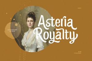 Asteria Royalty - Handwriting Font