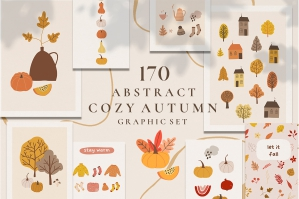 Autumn Cozy Fall Season Graphic Set