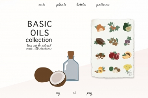 Basic Oils Vector Clipart