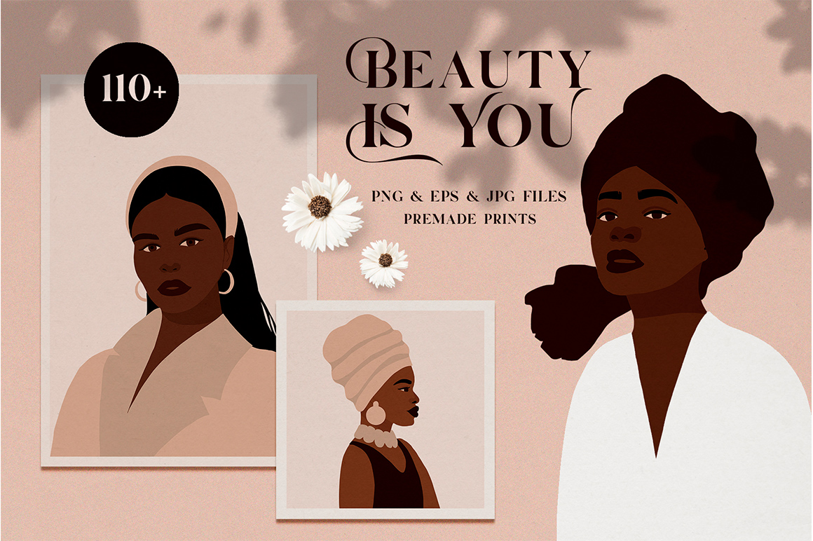 Beauty is You - African Woman Art