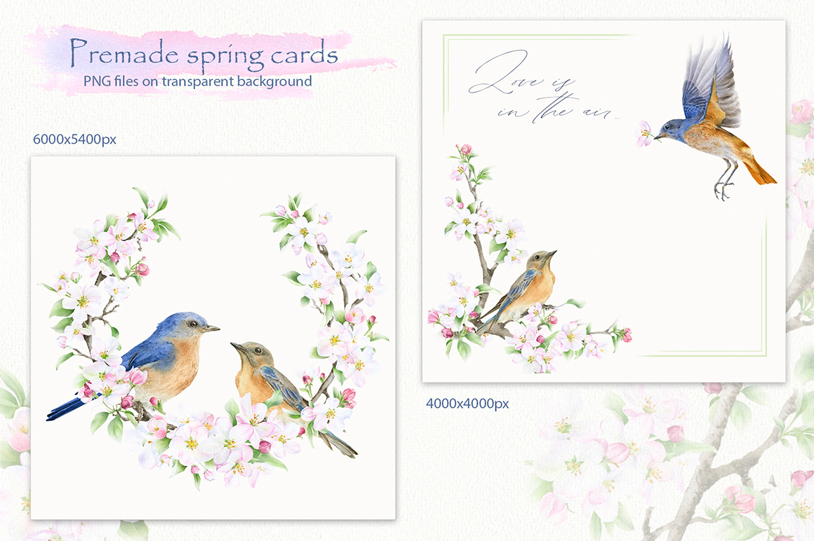 Blooming Spring Hand Drawn Watercolor Collection