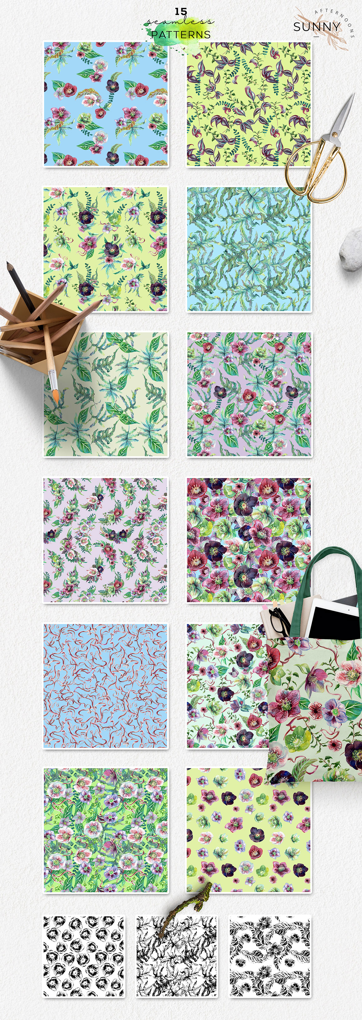 Botanica Floral & Greenery Watercolor Collection
