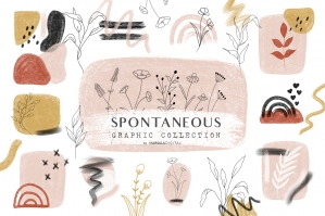 Botanical Line Art Abstract Shapes