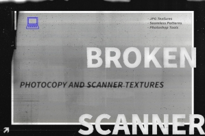 Broken Scanner - Photocopy Textures