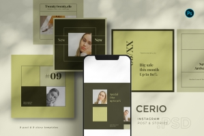Cerio - Instagram Template Set BL